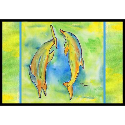 Dolphin Doormat Mat Size: Rectangle 2 x 3