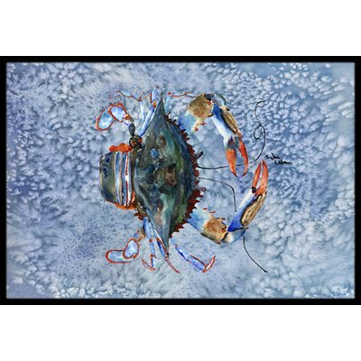 Crab Doormat Mat Size: Rectangle 2 x 3