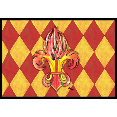 Peppers Fleur De Lis Doormat Rug Size: Rectangle 2 x 3