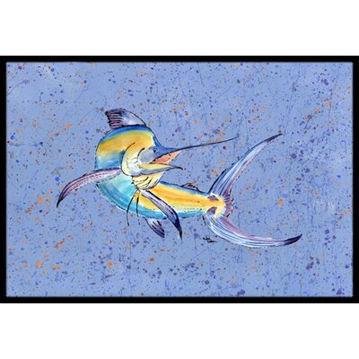 Marlin Doormat Rug Size: Rectangle 2 x 3