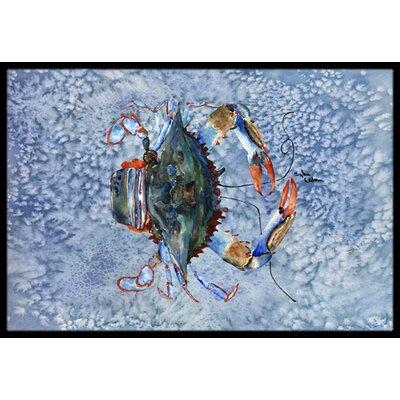 Crab Doormat Mat Size: Rectangle 16 x 2 3