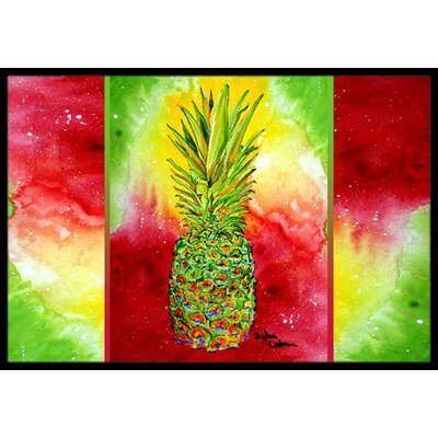 Pineapple Doormat Mat Size: Rectangle 2 x 3
