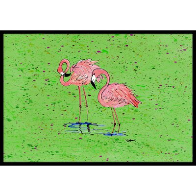 Flamingo Doormat Mat Size: Rectangle 2 x 3