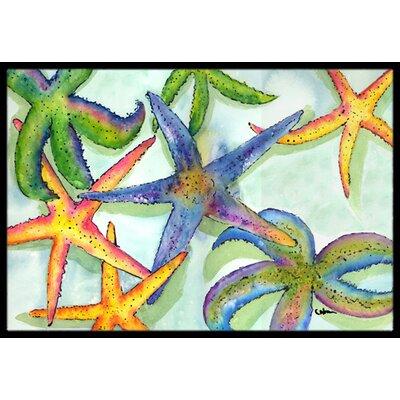 Starfish Doormat Rug Size: 2 x 3