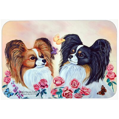Papillon Kitchen/Bath Mat Size: 20 H x 30 W x 0.25 D