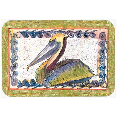 Bird Pelican Kitchen/Bath Mat Size: 24 H x 36 W x 0.25 D