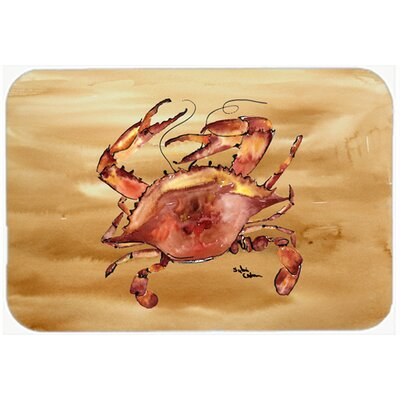 Cooked Crab Sandy Beach Kitchen/Bath Mat Size: 24 H x 36 W x 0.25 D