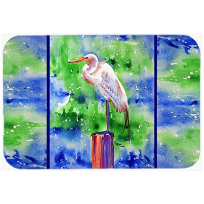 Egret Kitchen/Bath Mat Size: 20 H x 30 W x 0.25 D