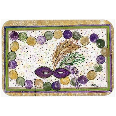 Mardi Gras Beads Kitchen/Bath Mat Size: 20 H x 30 W x 0.25 D