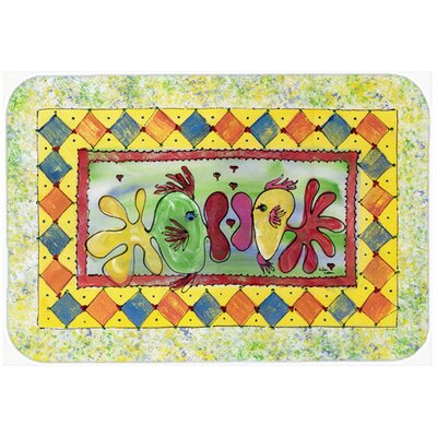 Fish Kissing Fish Kitchen/Bath Mat Size: 20 H x 30 W x 0.25 D