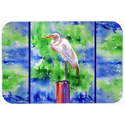 Egret Kitchen/Bath Mat Size: 24 H x 36 W x 0.25 D