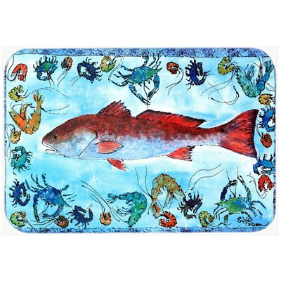 Fish Kitchen/Bath Mat Size: 24 H x 36 W x 0.25 D