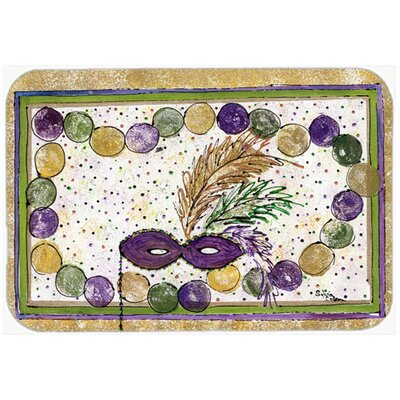 Mardi Gras Beads Kitchen/Bath Mat Size: 24 H x 36 W x 0.25 D