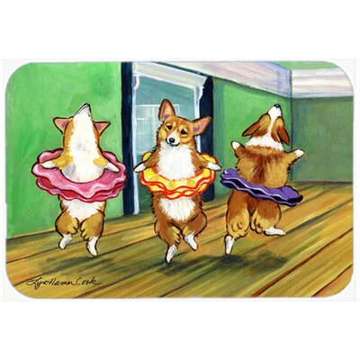 Little Ballerina Corgi Kitchen/Bath Mat Size: 20 H x 30 W x 0.25 D