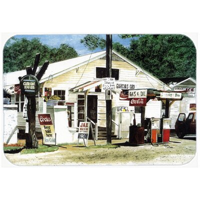 Garcias Grocery Kitchen/Bath Mat Size: 24 H x 36 W x 0.25 D