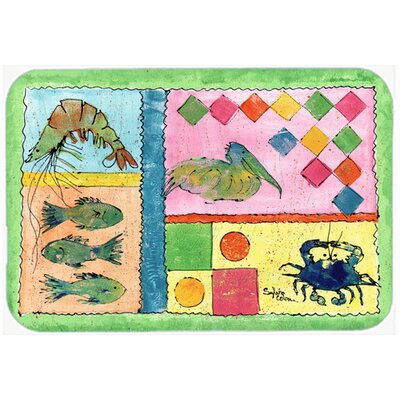 Heron Kitchen/Bath Mat Size: 20 H x 30 W x 0.25 D