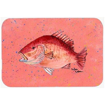 Strawberry Snapper Kitchen/Bath Mat Size: 24 H x 36 W x 0.25 D