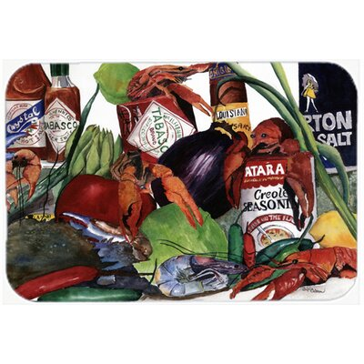 Crawfish Kitchen/Bath Mat Size: 24 H x 36 W x 0.25 D