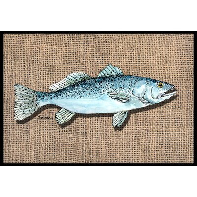 Fish Speckled Trout Doormat Rug Size: 2 x 3