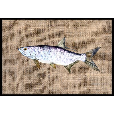 Fish Tarpon Doormat Mat Size: Rectangle 16 x 2 3