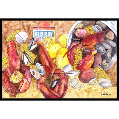 Lobster Doormat Rug Size: 2 x 3