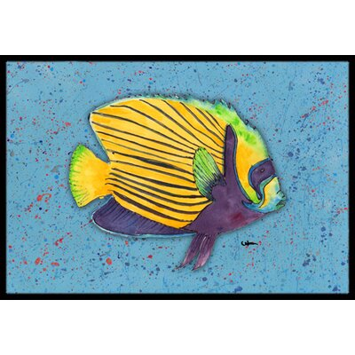 Tropical Fish Doormat Mat Size: Rectangle 2 x 3