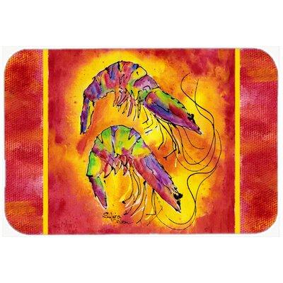 Bright Shrimp Kitchen/Bath Mat Size: 20