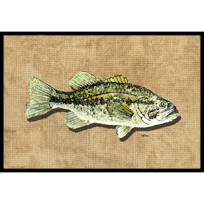 Small Mouth Bass Doormat Rug Size: 2' x 3'