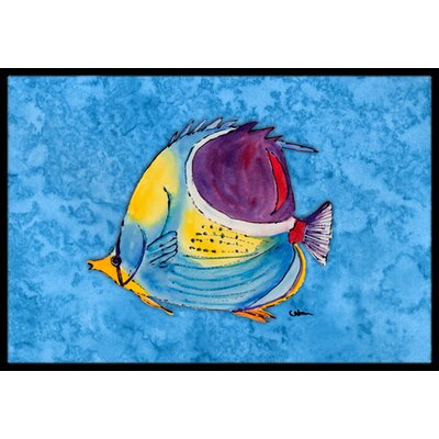 Fish Tropical Doormat Mat Size: Rectangle 16 x 2 3