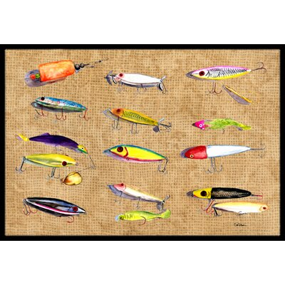 Fishing Lures Doormat Rug Size: 2 x 3