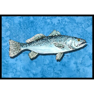 Fish - Trout Doormat Mat Size: Rectangle 2 x 3