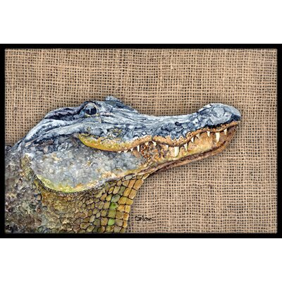 Alligator Doormat Rug Size: 2 x 3