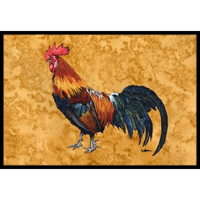 Rooster Doormat Mat Size: Rectangle 16 x 2 3