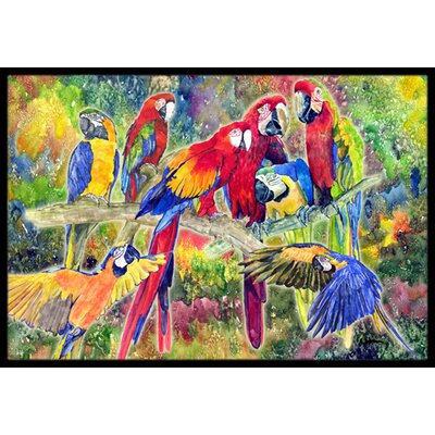 Parrot Doormat Rug Size: Rectangle 2' x 3'
