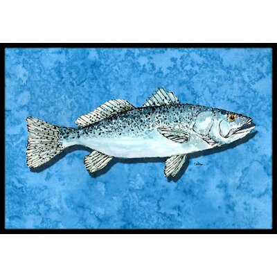 Fish - Trout Doormat Rug Size: Rectangle 16 x 2 3
