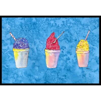Snowballs and Snow Cones Doormat Rug Size: 16 x 2 3