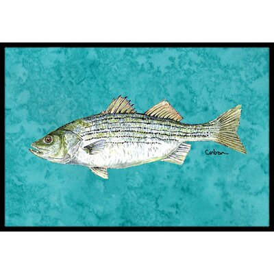 Fish Striped Bass Doormat Rug Size: 16 x 2 3