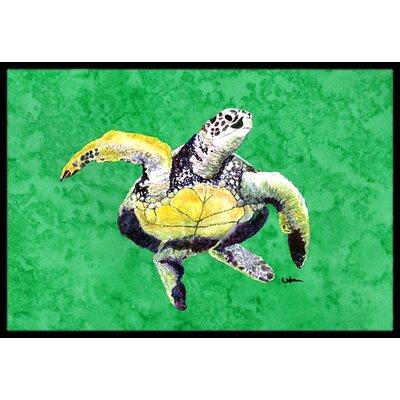 Turtle Doormat Rug Size: Rectangle 1'6
