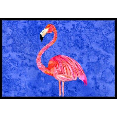 Flamingo Doormat Mat Size: Rectangle 2 x 3