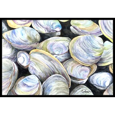 Clam Quahog Doormat Mat Size: Rectangle 16 x 2 3