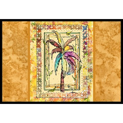 Palm Tree Doormat Rug Size: 2 x 3