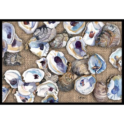 Oyster Doormat Rug Size: Rectangle 16 x 2 3