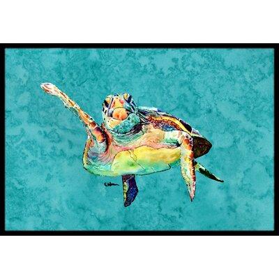 Turtle Doormat Rug Size: Rectangle 16 x 2 3