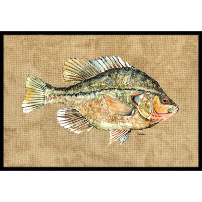 Crappie Doormat Rug Size: Rectangle 2' x 3'