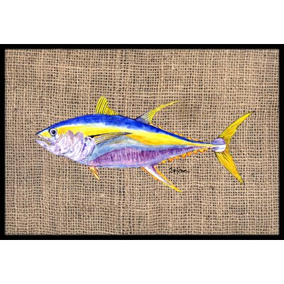 Fish Tuna Doormat Mat Size: Rectangle 16 x 2 3