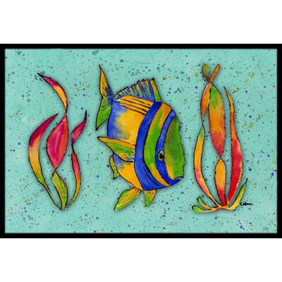 Tropical Fish Doormat Rug Size: 16 x 2 3