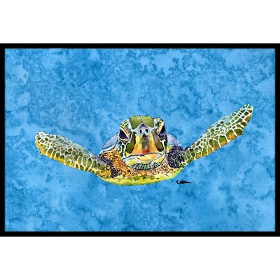 Coming at U Loggerhead Turtle Doormat Mat Size: Rectangle 2 x 3