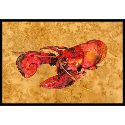 Lobster Doormat Mat Size: Rectangle 16 x 2 3