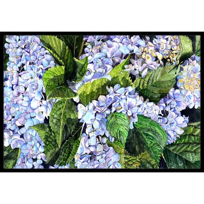Hydrangea Doormat Mat Size: Rectangle 2 x 3