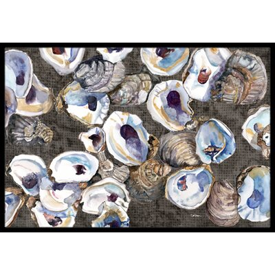 Oysters Doormat Mat Size: Rectangle 2 x 3